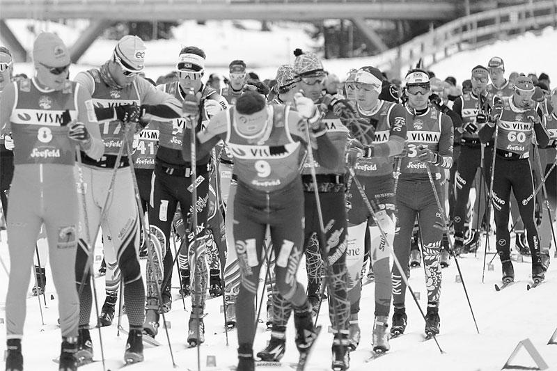 7-mila var et løp som samlet både elite og bredde og hadde store startfelt år etter år. Illustrasjonsbildet viser deler av starten i Visma Ski Classics-rennet Kaiser Maximilian Lauf 2020. Foto: Tumashov/NordicFocus.