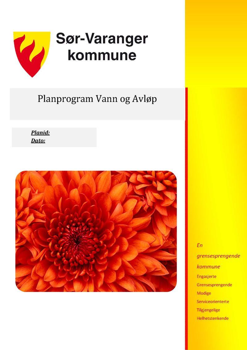 Planprogram VA 1