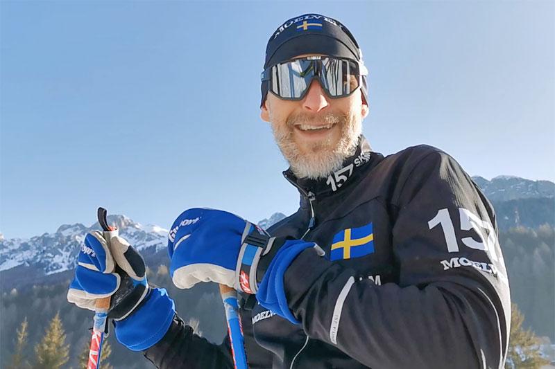 Stefan Palm er eier og gründer bak bedriften Lager 157. Foto: Lager 157 Ski Team.
