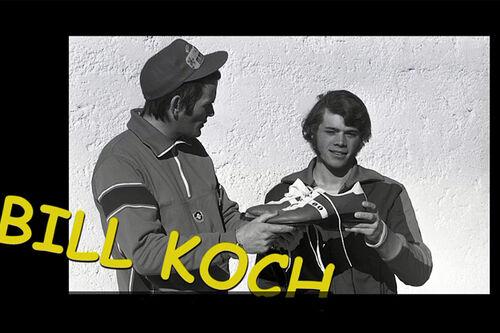 Bill Koch og NRK-mannen Gunnar Grimstad tilbake på 70-tallet. Faksimile fra NRK Nett-TV.