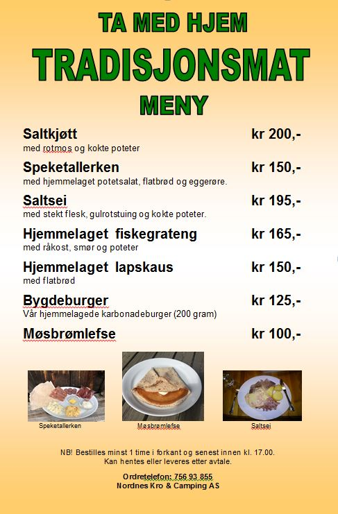 Catering meny 24 april 2020