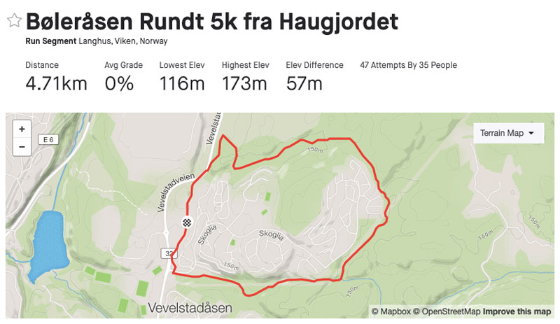 Bøleråsen Rundt - Løypekart.