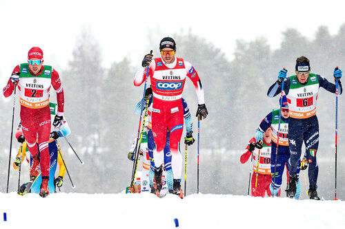 Pål Golberg i føringen, her flankert av Ilia Semikov og Giandomenico Salvadori. Foto: Modica/NordicFocus.