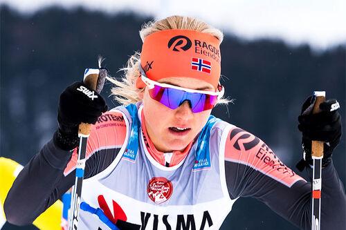 Emilie Fleten i Visma Ski Classics-rennet Kaiser Maximilian Lauf. Foto: Visma Ski Classics / Magnus Östh.