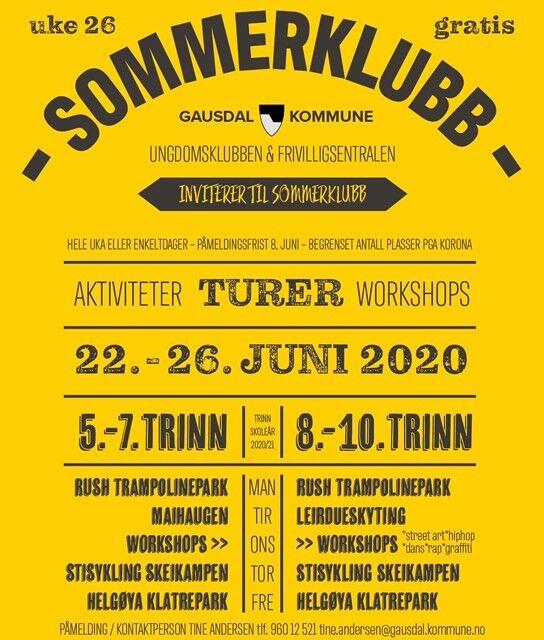 Plakat for sommerklubb