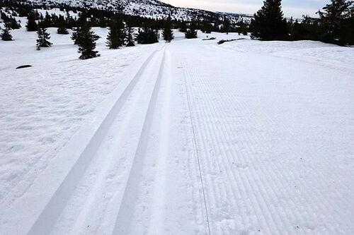 Skiløypene ved Mosetertoppen Hafjell 28. mai 2020, tatt i forbindelse med Hafjell Ski Marathon Summer Snow Challenge. Arrangørfoto.