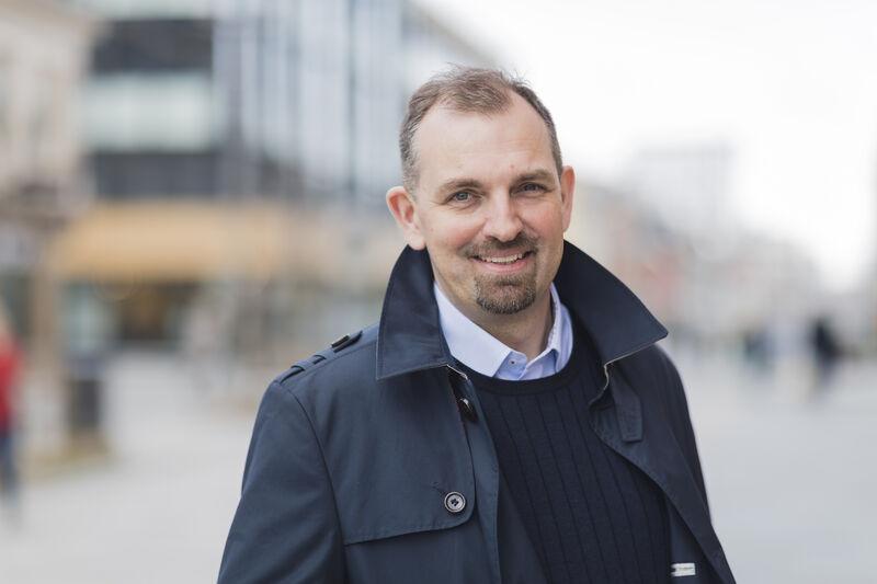 Portrett FUG-leder Marius Chramer ute bredde