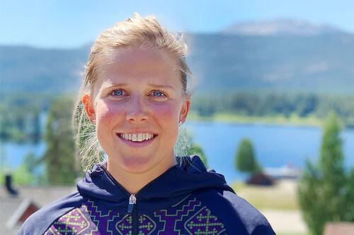 Kari Øyre Slind i forbindelsen med sin inntreden i Team Telemark sommeren 2020. Teamfoto.