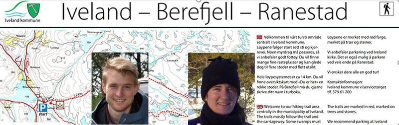 Turløype-Iveland-Berefjell-Ranestad