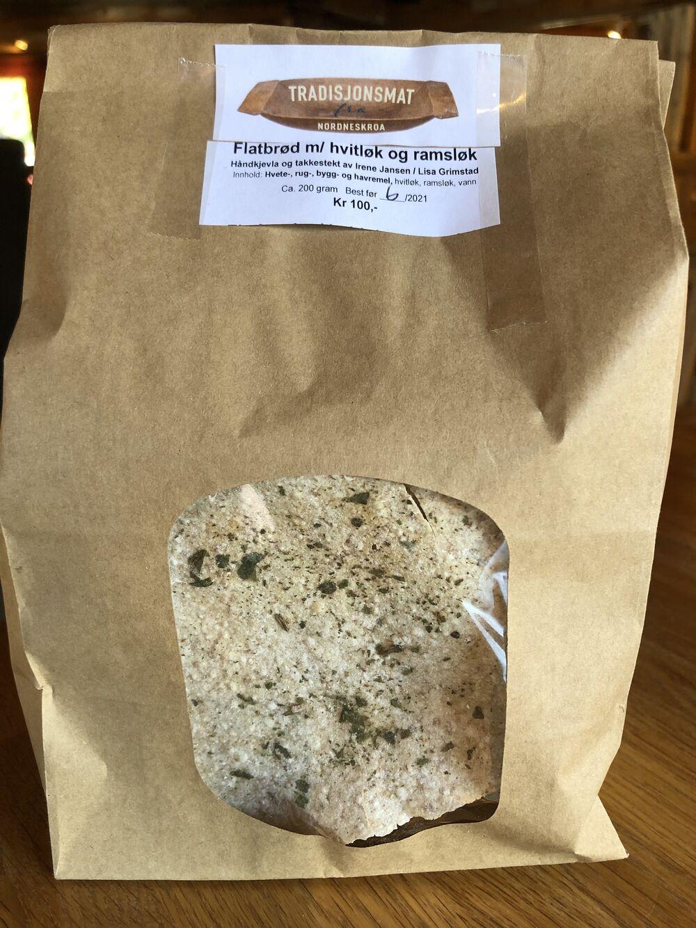Flatbrød med Ramsløk og hvitløk