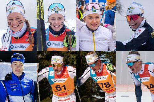 Løpere tatt ut til Sveriges Juniorlandslag for sesongen 2020/2021. Foto: Svenska Skidförbundet.