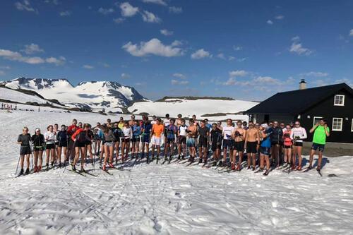 Team Vestmarka på juniorersamling ved Sognefjellet sommeren 2020. Foto: Team Vestmarka.