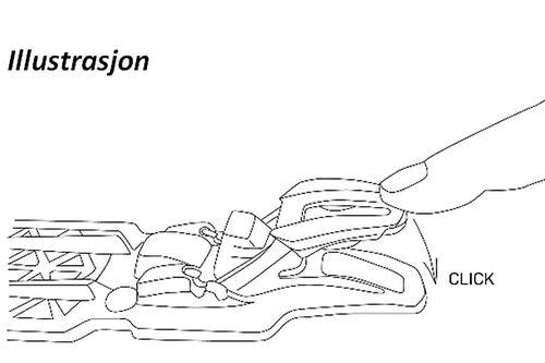 Rottefella binding - Illustrasjon.
