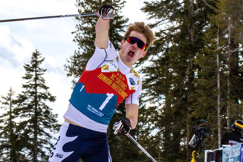 Walker Hall i de amerikanske juniormesterskapene 2020 der han vant sprinten. Foto: John McColgan.