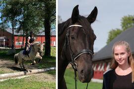 Reina Solberg Tysse (t.v.) og Agnes Maria Selland er nå ferdige med sin læretid på Norsk Hestesenter.