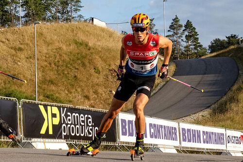 Johannes Høsflot Klæbo sikret seg seieren under sprinten på BLINK 2020. Foto: Axelar / Asgeir Ravndal.