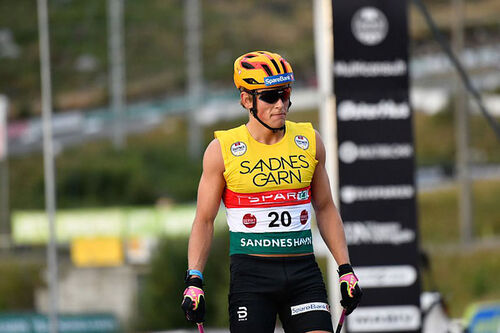 Johannes Høsflot Klæbo inn til seier på 15 km klassisk under BLINK 2020. Foto: Axelar / Hans Lie.