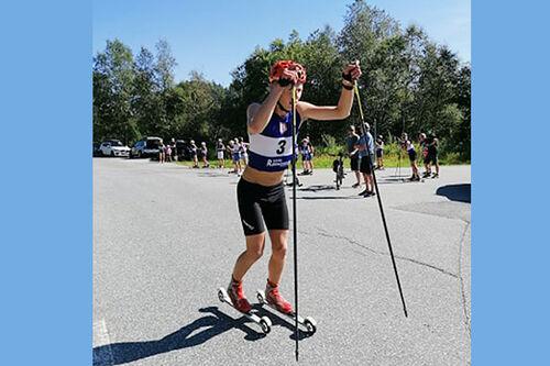 Steinar Frønsdal fra Hjelmeland IL underveis i Svandalen Opp 2020. Foto: Eva Karin Bjerga Øverland.