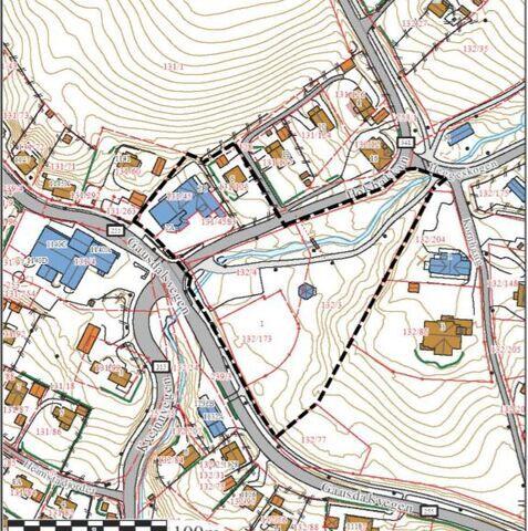 Kart over Holsbakken