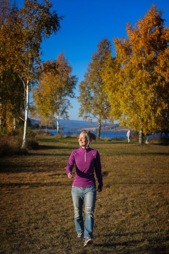 Hanne ved Frisklivssentralen. Fotograf: Jørn Grønlund