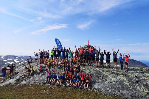 Meråkers ikoniske fjell, Fonnfjellet, ble besøkt av rundt 50 deltagere under Camp Meråker 2020. Arrangørfoto.