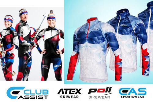 Clubassist fører blant annet team-bekledning til klubber, lag og bedrifter fra Atex Skiwear.