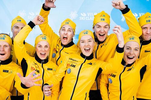 Lagbilde av Team Ramudden. Foto: Magnus Östh / Visma Ski Classics.