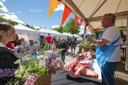 Bildet er fra matfestivalen Høy på Landet