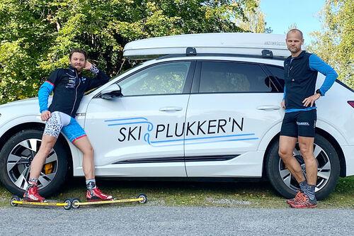 Team Norconsult og Skiplukkern inngår avtale om samarbeid rundt plukk av ski, slip og testing. Foto: Privat.