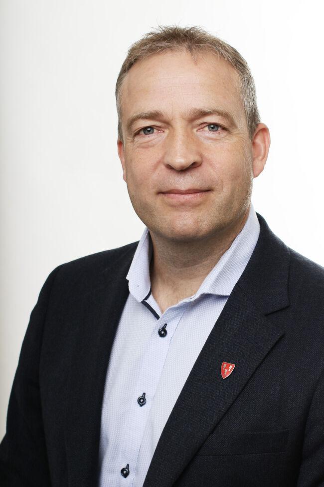Bildet viser ordfører i Jevnaker Morten Lafton