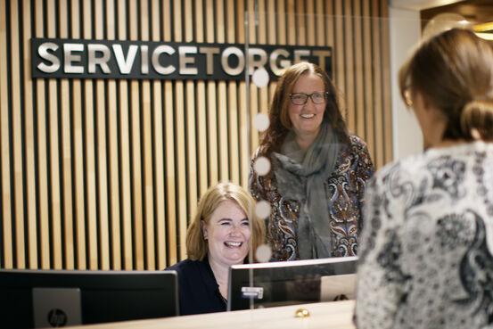 Bildet viser Servicetorget i Jevnaker kommune