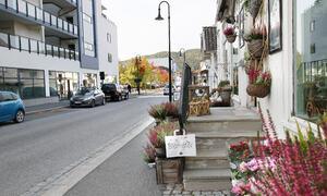 Bildet viser Storgata på Jevnaker