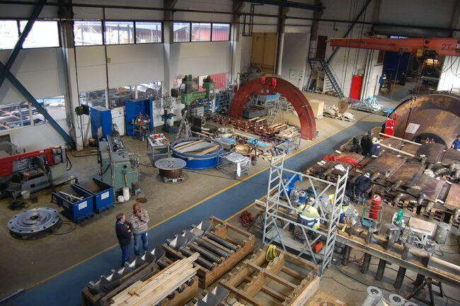 Bildet viser verkstedet hos Andritz Hydro Jevnaker