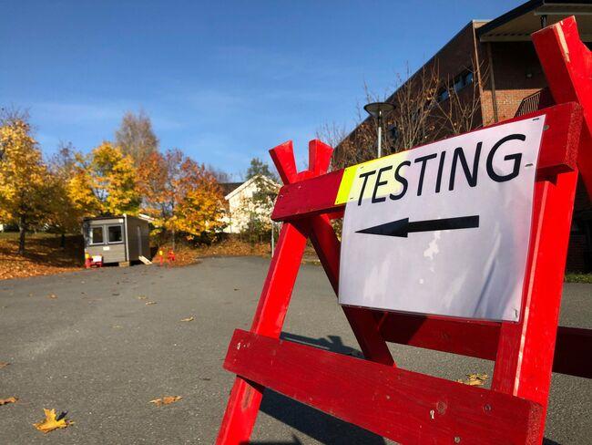 Bildet viser teststasjonen for Korona på JORS