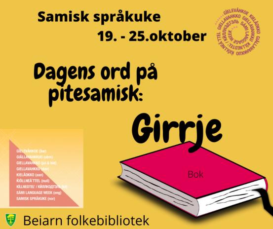 Plakat Samisk språkuke