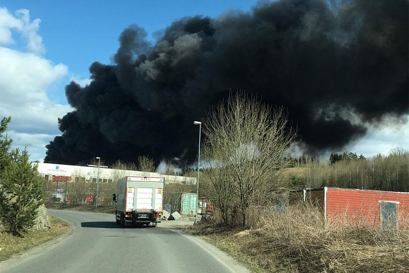 Illustrasjonsbilde av brann i industrilokale. Foto: Geir Nilsen / Langrenn.com.