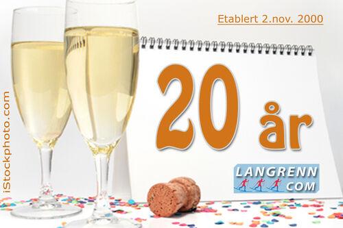 Langrenn.com ble lansert 2. november i år 2000 og fylte 20 år den 2. november 2020.