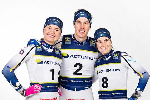 Linn Svahn, Johan Häggström och Ebba Andersson. Foto: Bildbyrån.