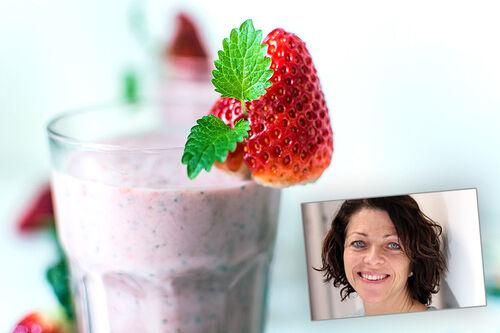 Monica Klungland Torstveit innfelt i et illustrasjonsbilde fra Creative Commons/Pixabay.com. Foto Monica er Universitetet i Agder. Grafikk: Langrenn.com.