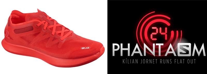 Killian Jornets sko og logo på 24-timersløpingen i norske Måndalen under Phantasm 24. Foto: Vegard Breie / VegardPhoto.com.