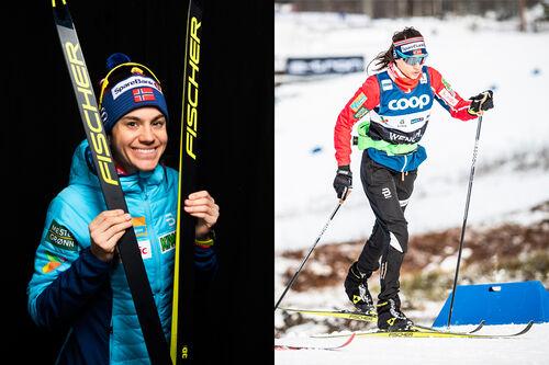 Heidi Weng. Foto: Modica/NordicFocus. Collage: Langrenn.com.