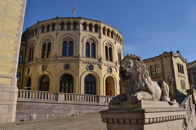 STORTINGET: Det norske storting, Oslo.