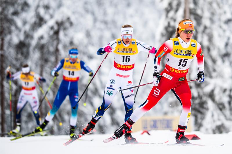 Helene Marie Fossesholm først i feltet. Foto: Modica/NordicFcous.