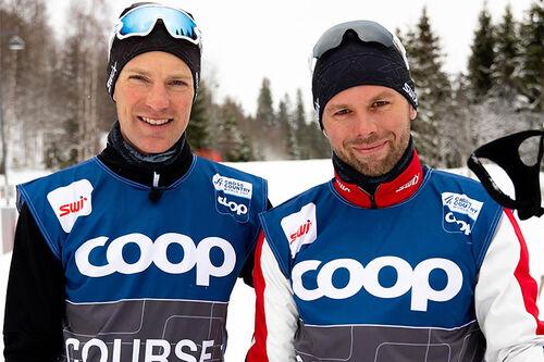 Morten Sætha og Mihhail Lukertsenko fra Swix Racing Service. Foto: Swix.