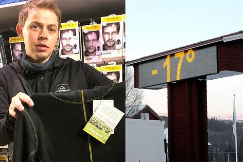 Jørn Engzelius, daglig leder på Nye Røros Sport AS, som holder til i et av Norges kaldeste områder. Foto: Ingeborg Scheve. Bildet til høyre, foto: Schmidt/NordicFocus.