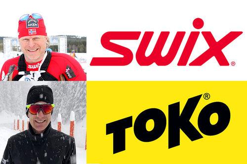 Åge Skinstad og Morten Sætha fra Swix og Toko. Foto: Swix og Geir Nilsen. Fotomontasje: Langrenn.com.