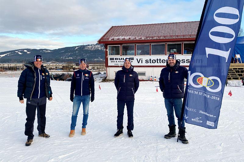 Fra venstre: Odd Magne Ruud, Odd Ture Wang, Ånund Lid Byggland og Stig Halvor Langmoen. Foto: Fossum IF.