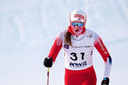Maria Hartz Melling under Junior-VM i Vuokatti 2021. Foto: Tomi Mäkipää / Loru Creative.