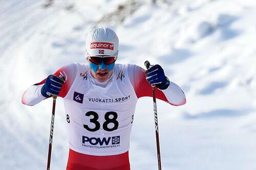 Nikolai Holmboe under Junior-VM i Vuokatti 2021. Foto: Tomi Mäkipää / Loru Creative.