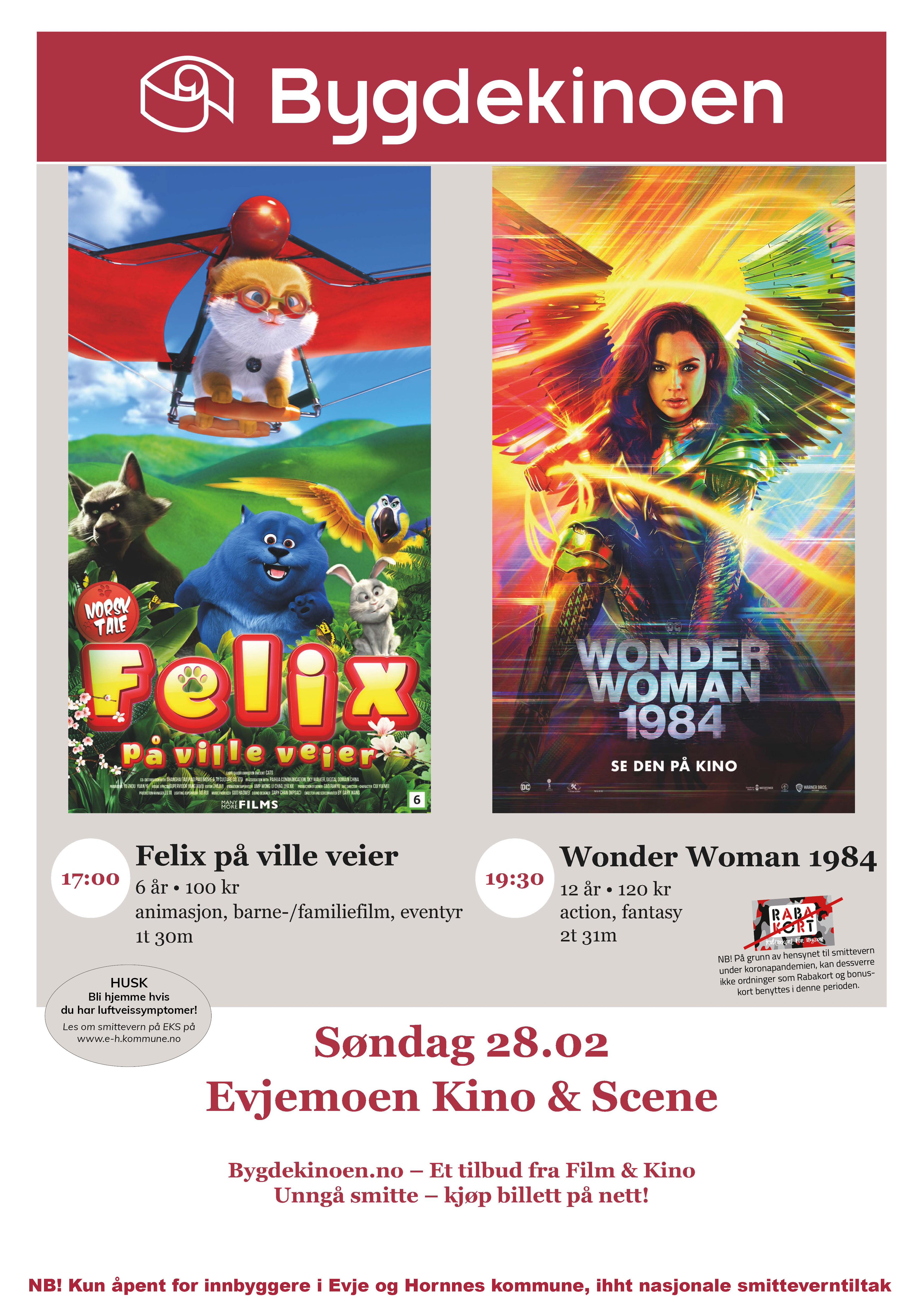 Plakat som viser at filmene